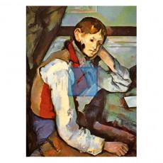 세잔 명화그림 - 붉은조끼를입은소년(캔버스화)