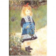 르느와르 명화그림 - 소녀와물조리개(캔버스화)