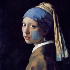 화장실액자 베르메르 명화그림 - 진주귀걸이를한소녀(캔버스화)