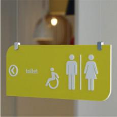 화장실픽토그램 Lime / 라임 / 천장형 화장실 표지판