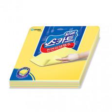 스카트*천연 위생행주 1백(10매-Y6장/P2장/G2장)