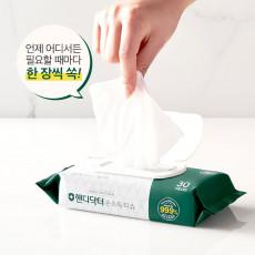 모나리자 핸디닥터 손소독 티슈 30매 1개 캡형 의약외품 살균