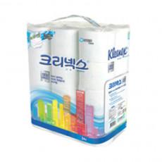 [소분포장]크리넥스 데코&소프트 물에잘녹는휴지 화장지  30m 3겹(24롤)